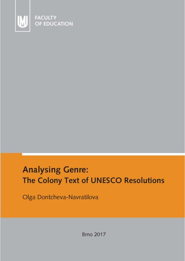 Obálka pro Analysing Genre: The Colony Text of UNESCO Resolutions