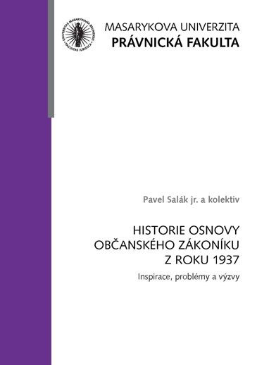 Historie Osnovy Obcanskeho Zakoniku Z Roku 1937 Inspirace Problemy