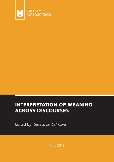 Obálka pro Interpretation of Meaning Across Discourses