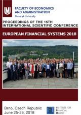 Obálka pro European Financial Systems 2018. Proceedings of the 15th International Scientific Conference