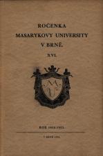 Obálka pro Ročenka Masarykovy university v Brně. XVI, Rok 1934-1935.