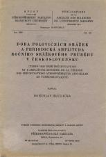 Doba polovičních srážek a periodická amplituda ročního srážkového průběhu v Československu/Temps des demi-précipitations et l'amplitude moyenne de la période des précipitations atmosphériyue annuelles en Tchécoslovaquie
