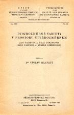 Obálka pro Dvojrozměrné variety v prostoru čtyřrozměrném/Les variétés à deux dimensions dans l'espace à quatre dimensions