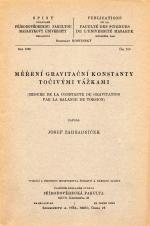 Obálka pro Měření gravitační konstanty točivými vážkami/Terrasses de la Svratka moyenne