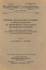 Obálka pro Náčrtek geologických poměrů v okolí Luhačovic se zřetelem na vznik jejich minerálních pramenů/Sur la situation géologique des environs de Luhačovice et l'origine de leurs sources minérales