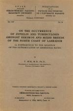 Obálka pro On the occurrence of syphilis and tuberculosis amongst eskimos and mixed breeds of the north coast of Labrador : a contribution to the question of the extermination of aboriginal races