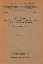 Obálka pro Příspěvek k theorii plochy stupně třetího s uniplanárním bodem/Remarques sur une surface cubique a point uniplanaire