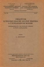 Příspěvek k theorii plochy stupně třetího s uniplanárním bodem/Remarques sur une surface cubique a point uniplanaire