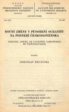Roční změny v působení oceanity na podební Československa/Parcours annuel de l'océanité climatérique en Tchécoslovaquie