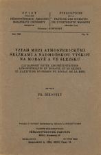 Vztah mezi atmosferickýni srážkami a nadmořskou výškou na Moravě a ve Slezsku/Le Rapport entre les précipitations atmosphériques en Moravie et en Silésie et l'altitude au-dessus du niveau de la mer