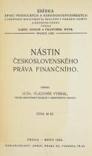 Nástin československého práva finančního