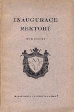 Obálka pro Inaugurace rektorů Masarykovy university v Brně : 23. listopadu 1925 : studijní rok 1925/26