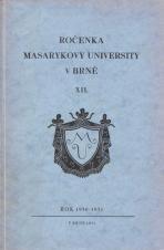 Obálka pro Ročenka Masarykovy university v Brně. XII, Rok 1930-1931