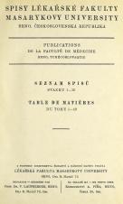 Obálka pro Spisy Lékařské fakulty, svazek 1. Intro