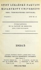 Spisy Lékařské fakulty, svazek 3. Intro