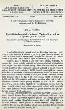 Obálka pro Fysikálně-chemické vlastnosti Ty-bacilů a pokus o využití jich k isolaci / Les caracteres physicochemiques des Ty-bacilles et un essai d'appliquer ces mêmes à l'isolation