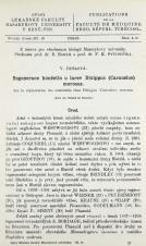 Regenerace končetin u larev Dixippus [Carausius] morosus : Přednes. v Čs. biologické společnosti