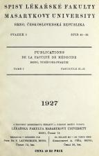 Obálka pro Spisy Lékařské fakulty, svazek 5. Intro