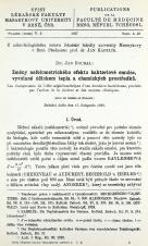 Změny nefelometrického efektu bakteriové emulse, vyvolané účinkem tepla a chemických prostředků / Les changements de l'effet néphélométrique d'unne émulsion bactérienne, produits par l'action de la chaleur et des moyens chimiques