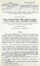 Obálka pro Změny nefelometrického efektu bakteriové emulse, vyvolané účinkem tepla a chemických prostředků / Les changements de l'effet néphélométrique d'unne émulsion bactérienne, produits par l'action de la chaleur et des moyens chimiques