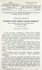 Biologická zkouška účinnosti saponinů senegových / Épreuve biologique faite dans le but d'établir l'efficacité des saponines du senega