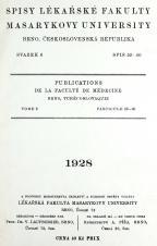 Spisy Lékařské fakulty, svazek 6. Intro