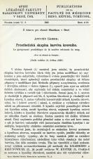 Prosthetická skupina barviva krevního / Le groupement prosthétique de la matière colorante du sang
