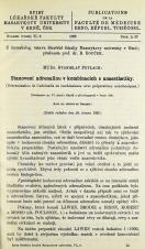 Stanovení adrenalinu v kombinacích s anaesthetiky / Détermination de l'adrénalin en combinaisons avec préparation anésthetiques