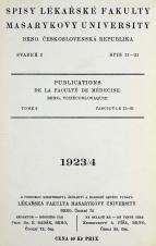 Obálka pro Spisy Lékařské fakulty, svazek 2. Intro