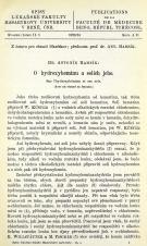 Obálka pro O hydroxyheminu a solích jeho / Sur l'hydroxyhémine et ses sels