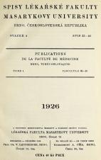 Obálka pro Spisy Lékařské fakulty, svazek 4. Intro