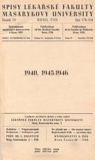 Spisy Lékařské fakulty, svazek 19. Intro