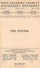 Obálka pro Spisy Lékařské fakulty, svazek 19. Intro