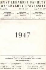 Obálka pro Spisy Lékařské fakulty, svazek 20. Intro