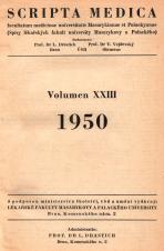 Obálka pro Spisy Lékařské fakulty, svazek 23. Intro