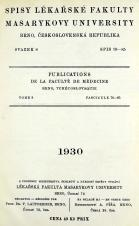 Obálka pro Spisy Lékařské fakulty, svazek 8. Intro