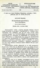 Obálka pro O kathemoglobinu / Sur la cathémoglobine