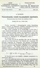 Thermodynamika roztoků bez pomyslných experimentů / Thermodynamique des solutions sans expériences ideales