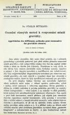 Obálka pro Ocenění různých metod k rozpoznání mladé gravidity / Appréciation des différentes méthodes pour reconnaître des gravidités récentes