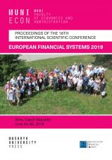 Obálka pro European Financial Systems 2019. Proceedings of the 16th International Scientific Conference