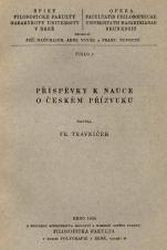 Obálka pro Příspěvky k nauce o českém přízvuku