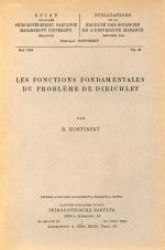 Obálka pro Les fonctions fondamentales du probléme de Dirichlet