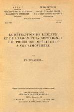 Obálka pro La réfraction de l'hélium et de l'argon et sa dépendance des pressions inférieures à une atmosphère
