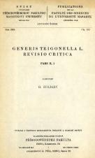 Obálka pro Generis Trigonella L. revisio critica. Pars II, 1
