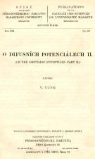 Obálka pro O difusních potenciálech. II.