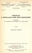 Příspěvky k mineralogii země moravskoslezské