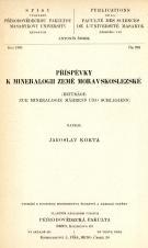 Obálka pro Příspěvky k mineralogii země moravskoslezské