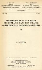 Obálka pro Recherches sur la courbure des surfaces dans des espaces a n dimensions a courbure constante. II.