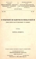 Obálka pro O některých barytech moravských