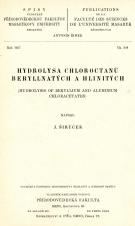 Hydrolysa chloroctanů beryllnatých a hlinitých